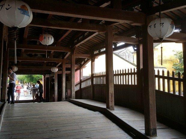inside Janpanese covered bridge Hoi An