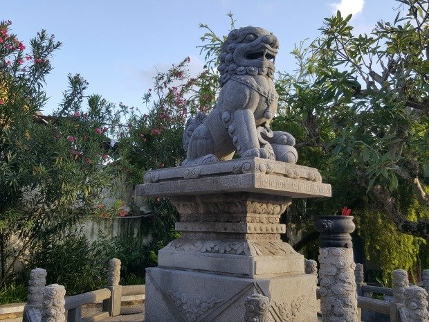 lion in pagoda