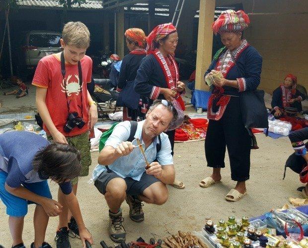 market Ha Giang province Vietnam