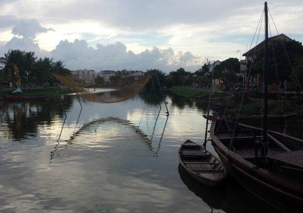 river at dusk Hoi An