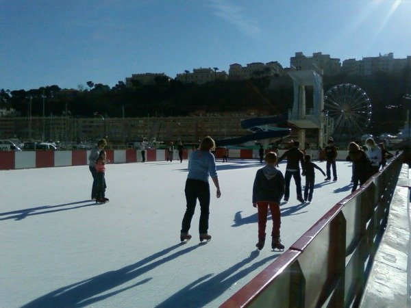 skating in Monaco at Christmas
