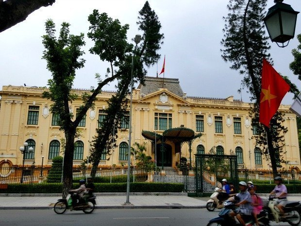 French architecture Hanoi Vietnam