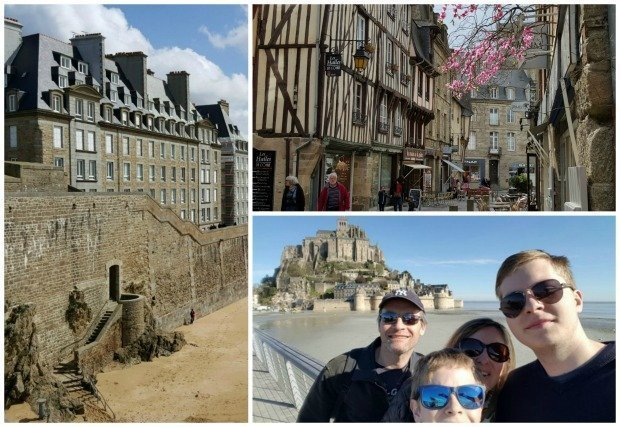 St Malo Mont St Michel collage
