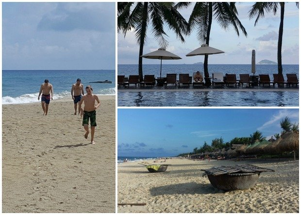 hoi an beach collage