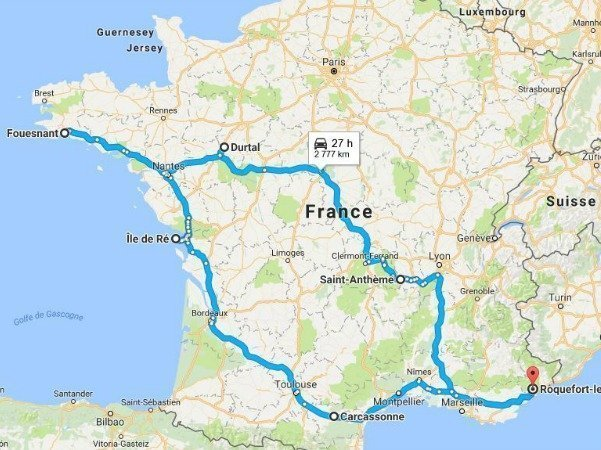 French road trip