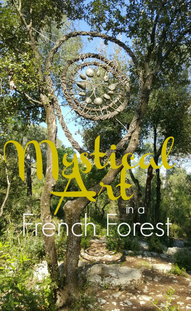 mystical art in French Riviera forest