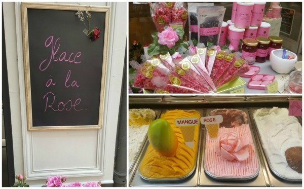 rose ice cream Grasse