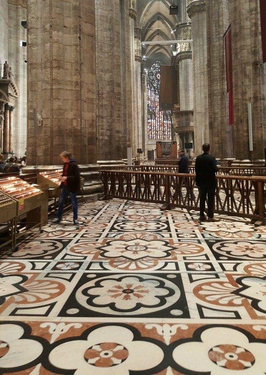 Milan Duomo floor