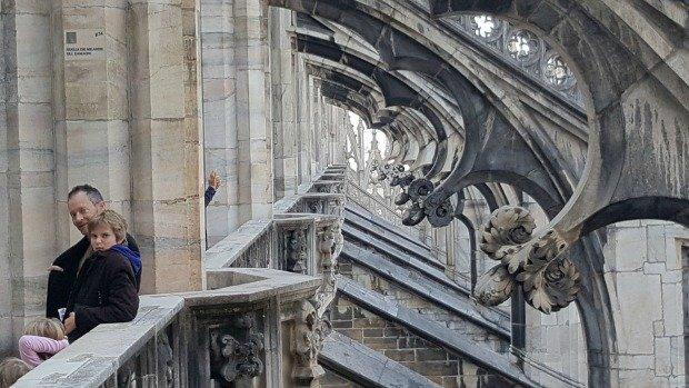Milan Duomo roof climb