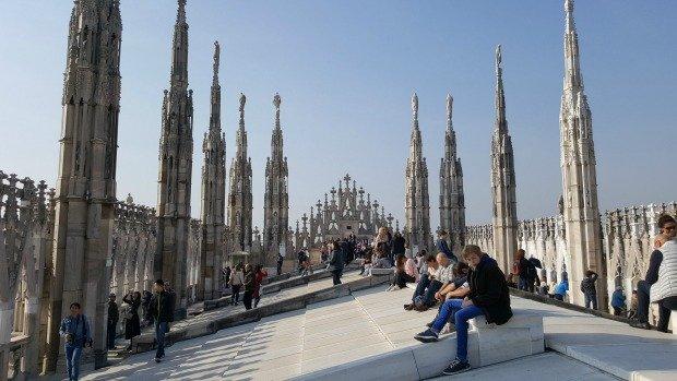Milan on Duomo roof