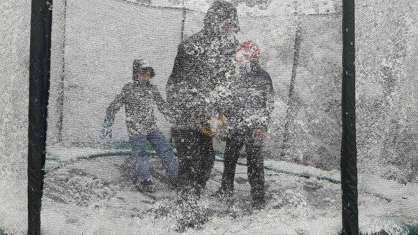 snow trampoline