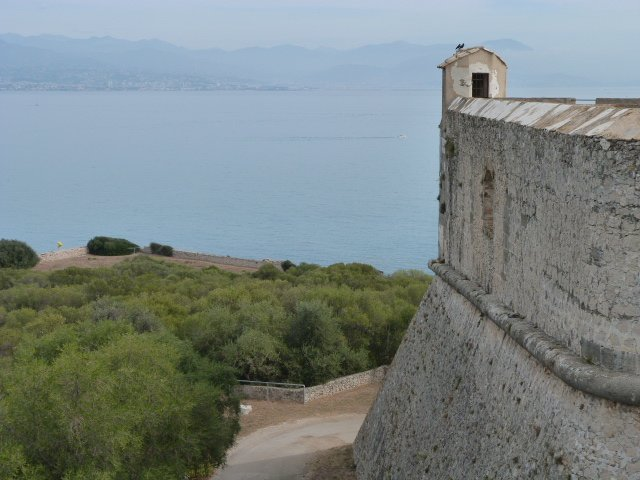 view from Fort Carré Antibes