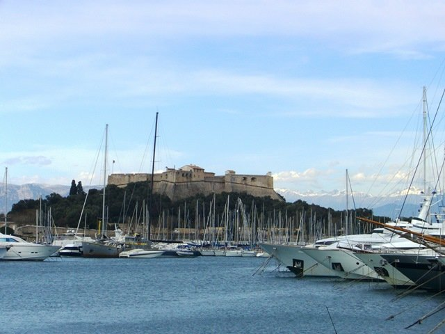 Visiting Fort Carré, Antibes