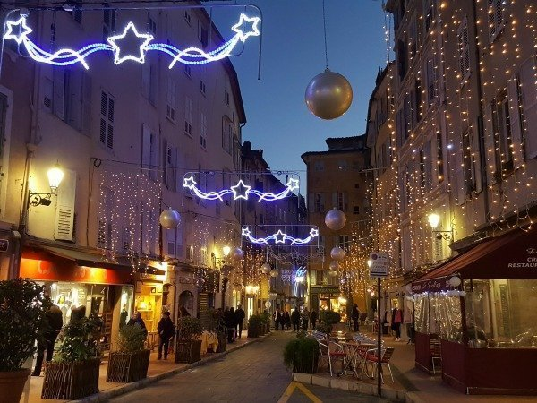 Christmas lights in Grasse