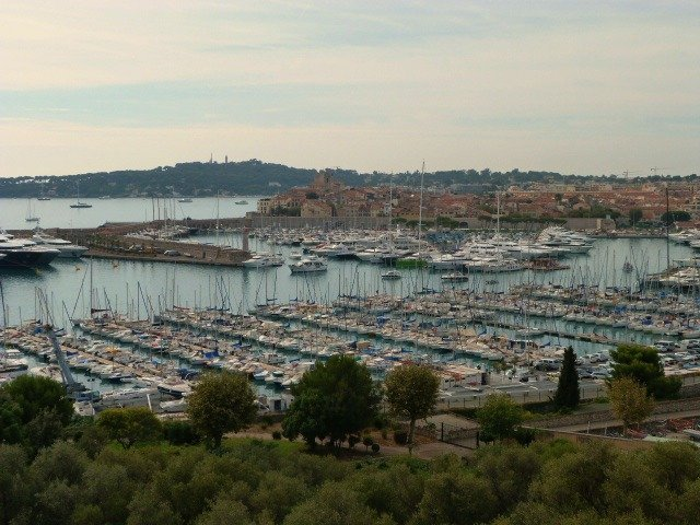 Port Vauban Antibes seen from Fort Carré Antibes