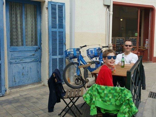 café with vélo bleu