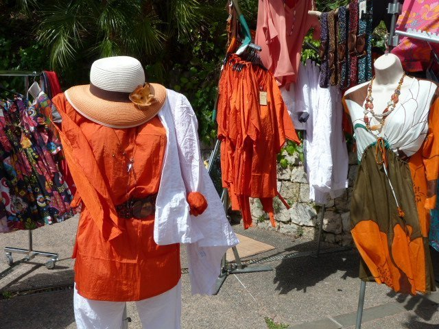 orange clothes at orange festival french riviera