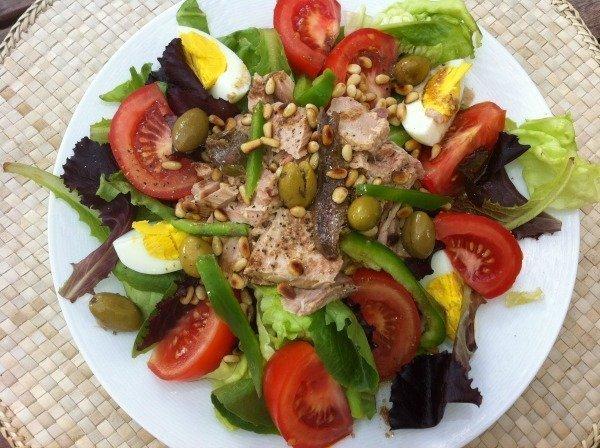 salade niçoise homemade