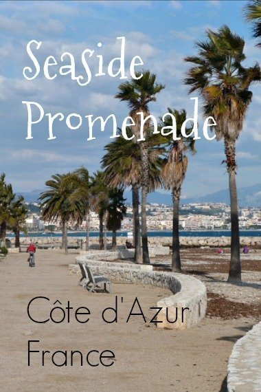 seaside promenade Côte d'Azur France