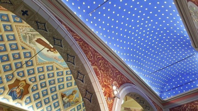 Antibes church ceiling