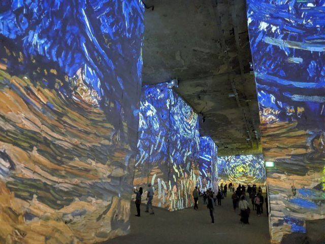 Immersive art exhibition Provence