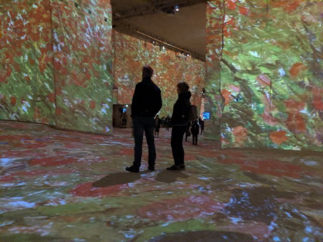 visitors at van Gogh immersive exhibition Provence
