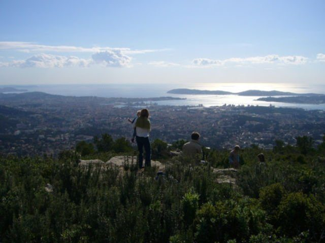 view of Toulon from Mont Faron