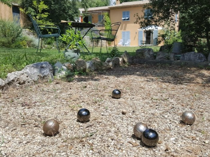 boules at self-catering gite