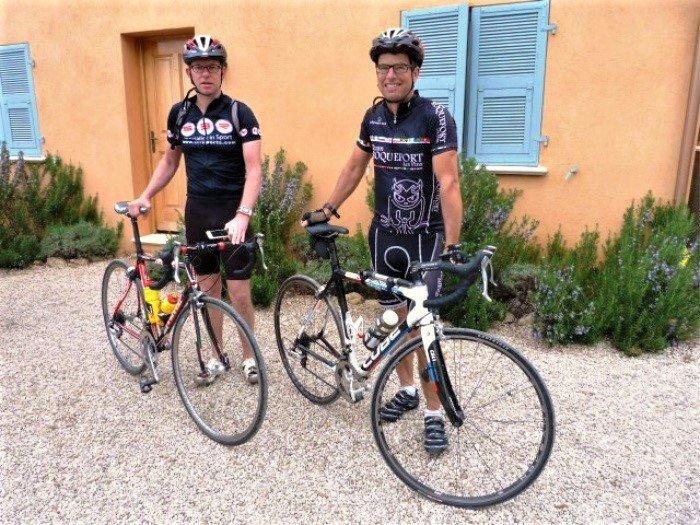 cyclistes à Lou Messugo