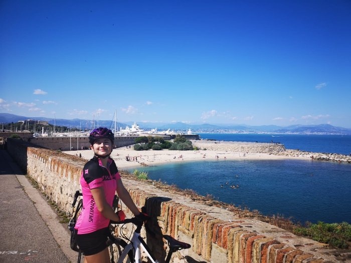 cyclist in Antibes