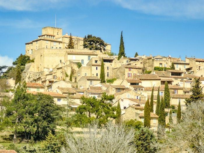 Ansouis beautiful village in the South of France a member of les plus beaux villages de France