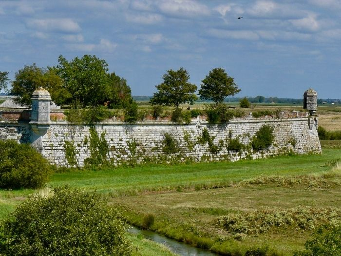 Brouage walls in Charente-Maritime
