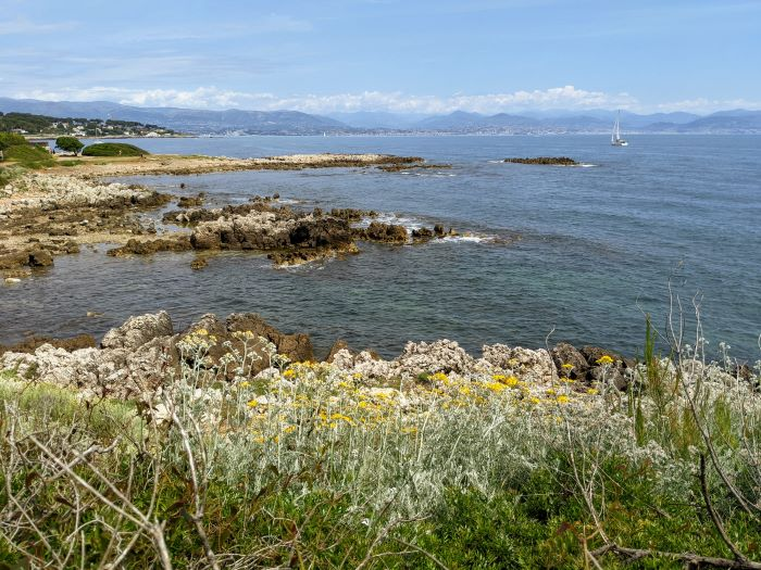 view from cap d'antibes coastal path