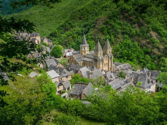 Conques a beautiful village in France