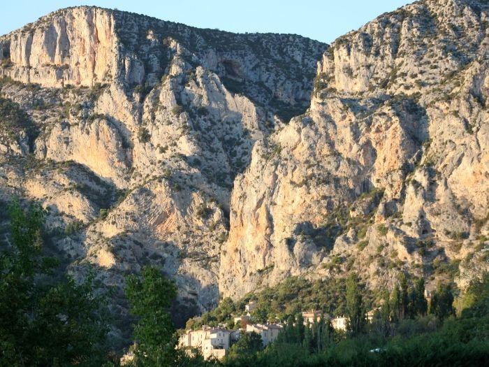 Moustier-Sainte-Marie village part of the association of plus beaux villages de France