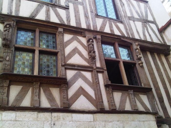 half-timbered house in Noyers, Burgundy