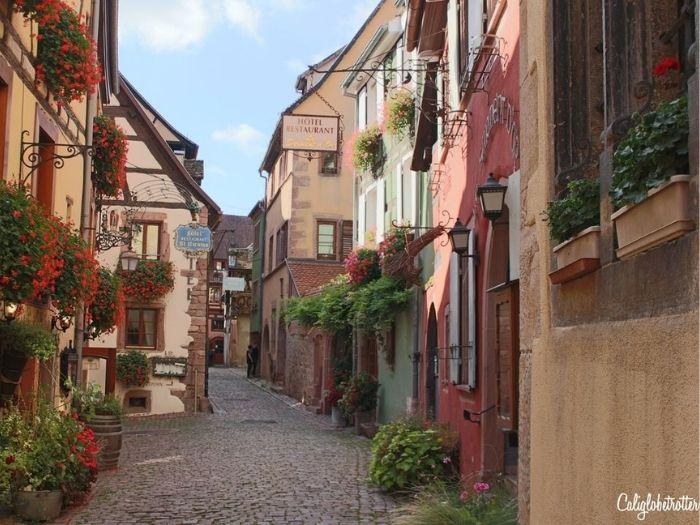 Beau village de Riquewihr en Alsace