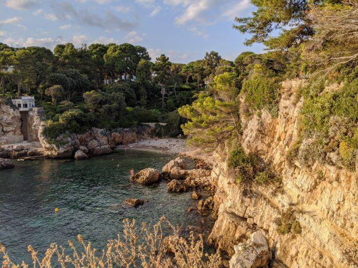 Billionaire's Bay from coast path Cap d'Antibes