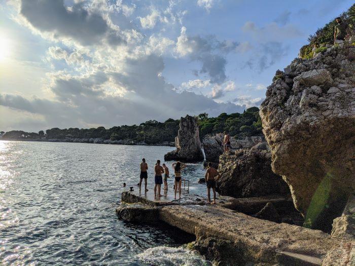 swimming jetty Cap d'Antibes France