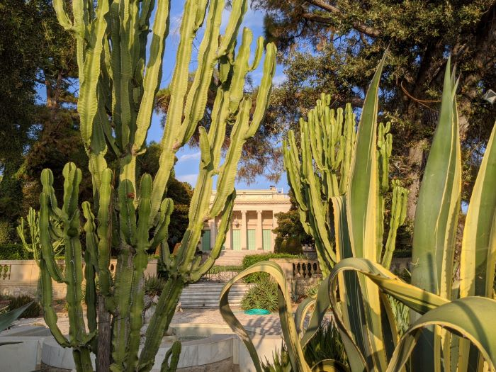 Villa Eilenroc seen from the coast path Cap d'Antibes