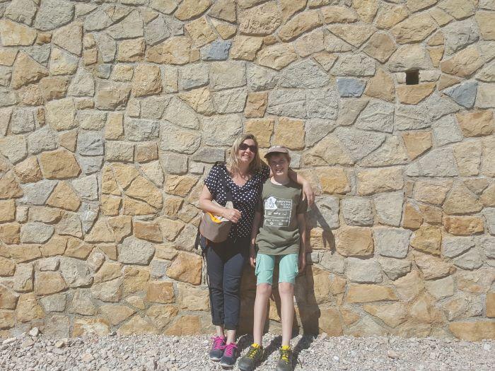 stone wall on cap d'antibes