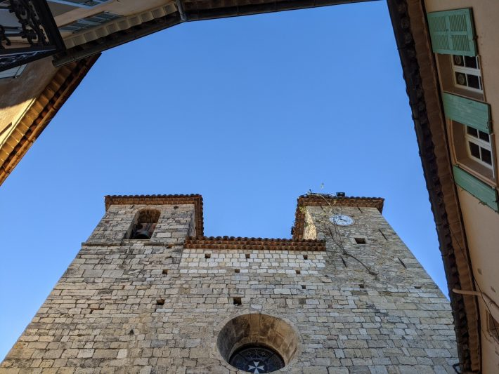castle and blue sky in Seillans